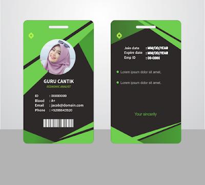 download desain Kartu tanda anggota kta