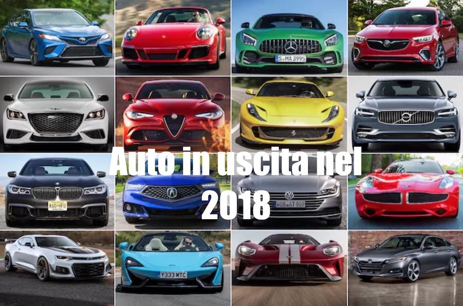 agenda auto in uscita nel 2018