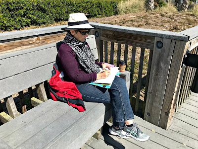 March 23, 2018 Writing at the beach.