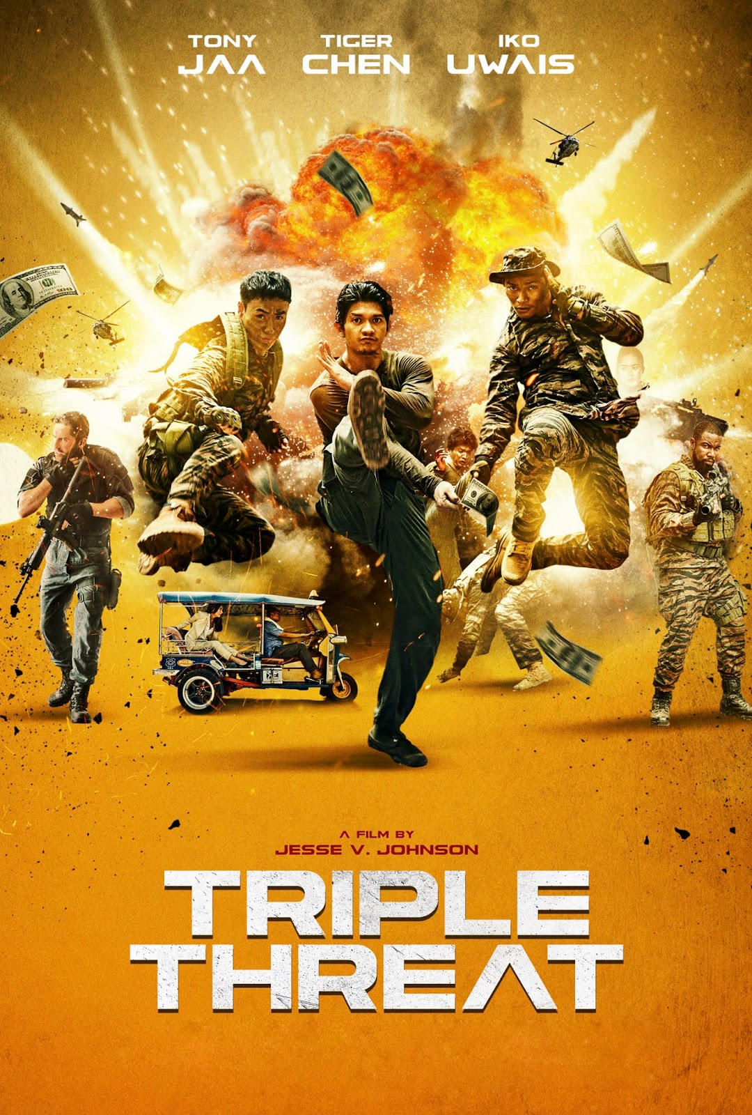 Triple Threat [2019] [DVDR] [NTSC] [Latino]