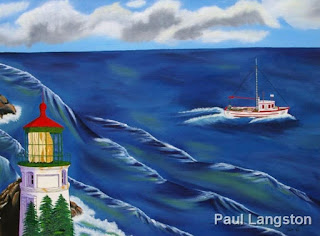 oil painting by Paul Langston