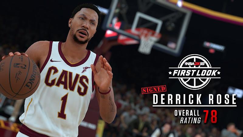 5002cffb43e1 12 More NBA 2K18 Screenshots and Ratings Released - Rose