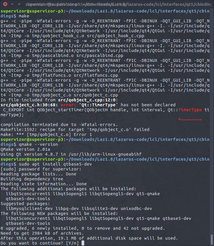 Lazarus IDE on ARM Ubuntu (Raspberry Pi, Ubuntu Touch, etc)