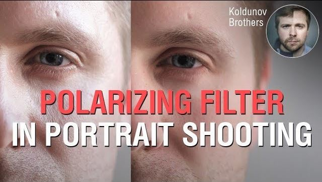 Polarizing Filter In Portrait. How To Remove Glare From The Face.