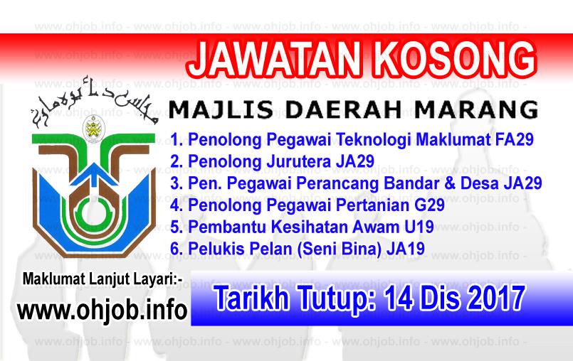 Jawatan Kerja Kosong Majlis Daerah Marang logo www.ohjob.info disember 2017
