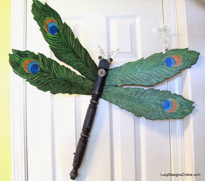 peacock dragonfly art