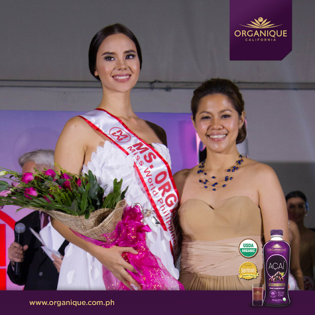 Catriona Gray was awarded Best in Talent, Miss Organique