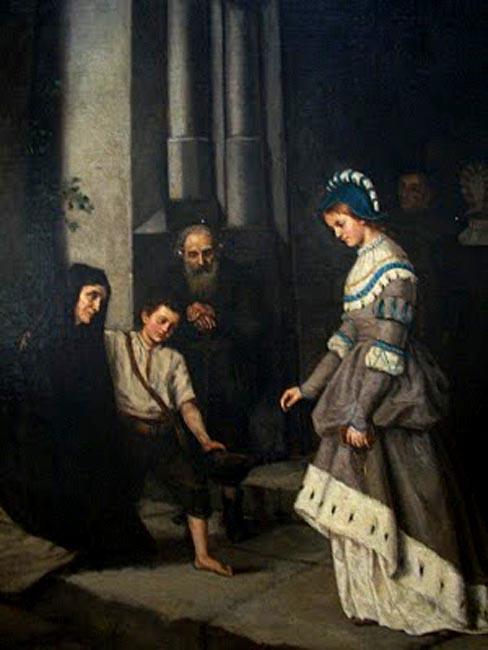 Citations des Pères de l'Eglise concernant l'AUMÔNE et la CHARITÉ (en espagnol) - Page 2 Merino-ignacio-mujer-dando-limosna-pintores-latinoamerricanos-juan-carlos-boveri