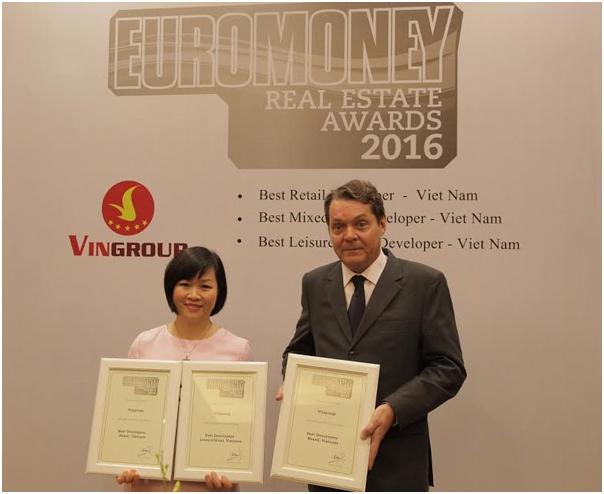 Euromoney trao tặng 3 giải thưởng BĐS cho Vingroup