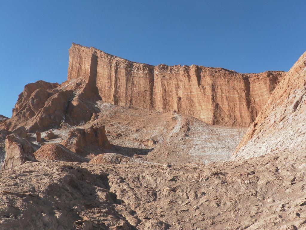 O anfiteatro no Vale da Lua Atacama