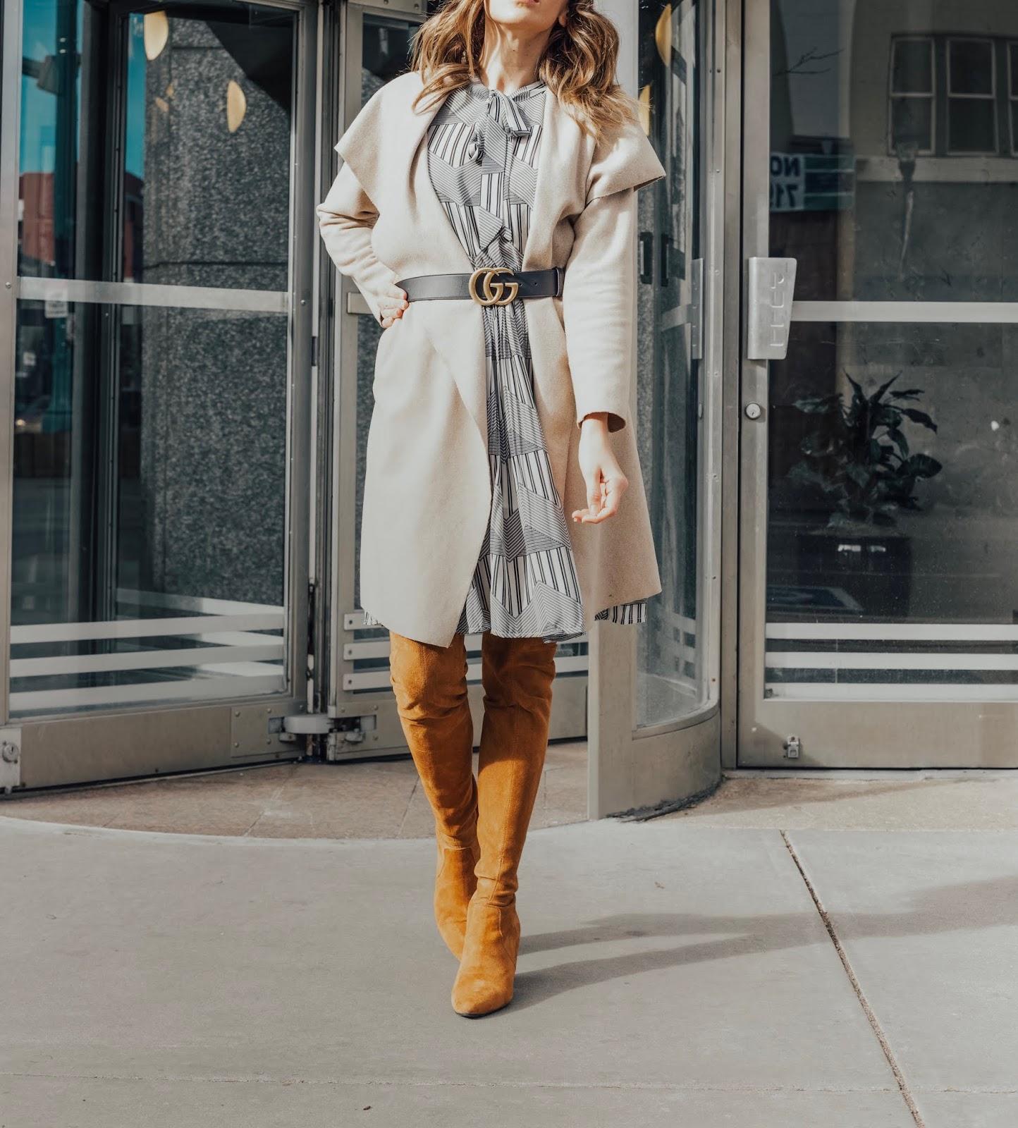 Dress Jacket and OTK Boots