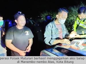 Polsek Matuari Gagalkan Aksi Balap Liar di Manembo-nembo Atas