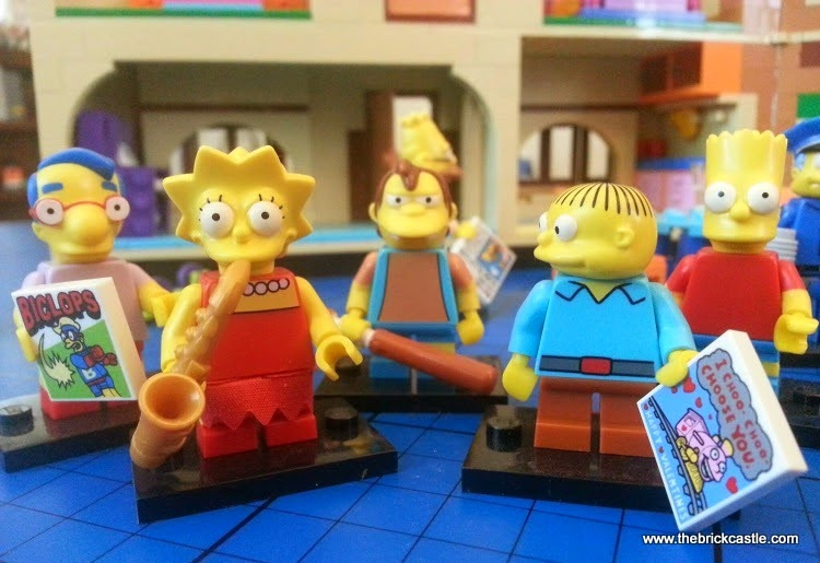 LEGO Simpsons Children Millhouse, Lisa, Bart, Nelson, Ralph minifigures