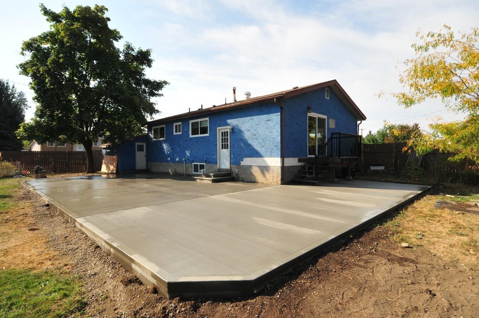 MODE CONCRETE: Concrete Patios, Concrete Stairs, Concrete ... on Concrete Slab Backyard Ideas id=58846