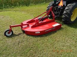 Mow Zoysia Grass Having a Rotary Mower