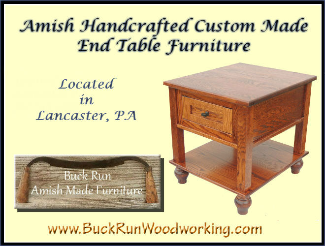 Custom Furniture Amish Handcrafted Coffee End Tables Lancaster Pa