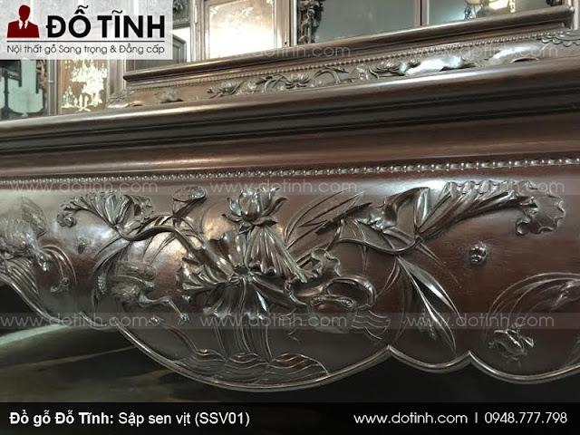 Sập sen vịt (SSV01) - Mẫu sập gụ đẹp nhất