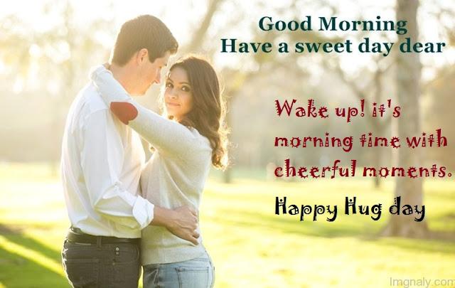 Hug Day Good Morning Whatsapp Status DP