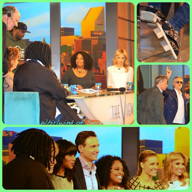 The View hosts, Kadee Strickland, Kerry Washington, Tony Goldwyn, Andrea Borcelli, David Foster #TedAllenG2K