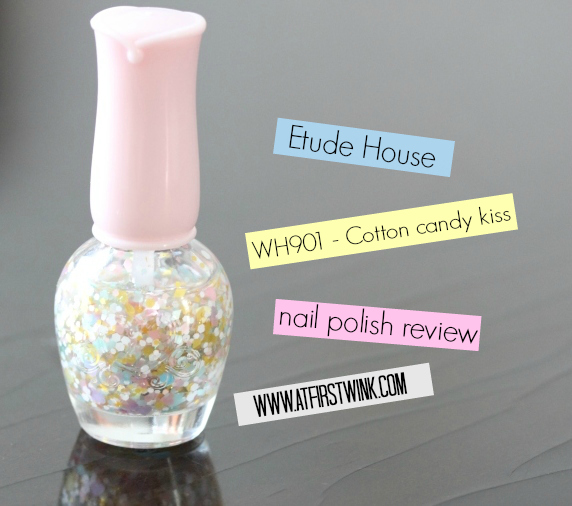 Review: Etude House nail polish WH901 - Cotton candy kiss