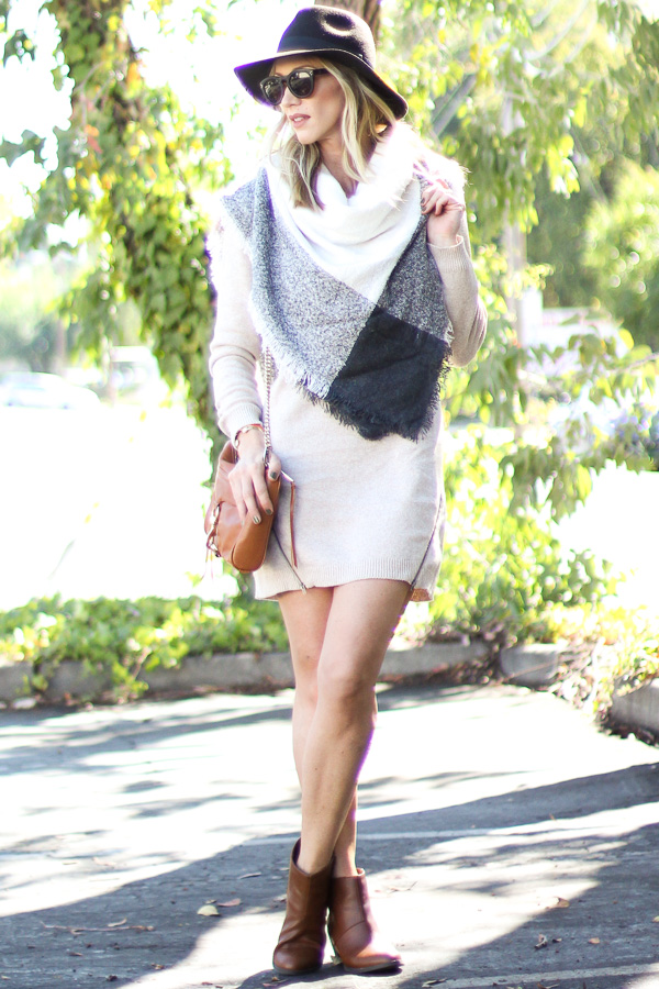 cross body bag and booties for fall