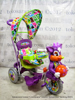Sepeda Roda Tiga Royal RY8588CJ Baby Ball Kancil Dobel Musik Jok Kain