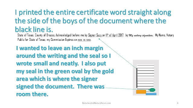 You can always print out a notarial certificate.