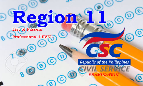 List of Passers Region 11 August 2017 CSE-PPT Professional Level