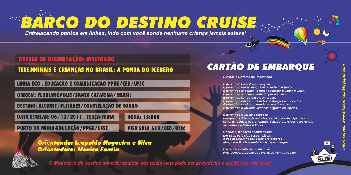 6de86e254f Atenção senhores passageiros e crianças com destino à defesa da  dissertação. Telejornais e crianças no Brasil  a ponta do iceberg.
