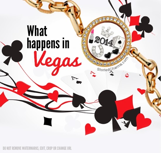 What Happens in Vegas Origami Owl Locket Bracelet or Necklace | Shop StoriedCharms.com