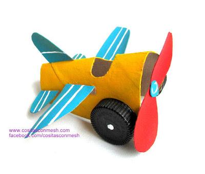 avión-manualidades-niños