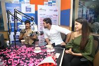 Pragya Jaiswal in a single Sleeves Off Shoulder Green Top Black Leggings promoting JJN Movie at Radio City 10.08.2017 003.JPG