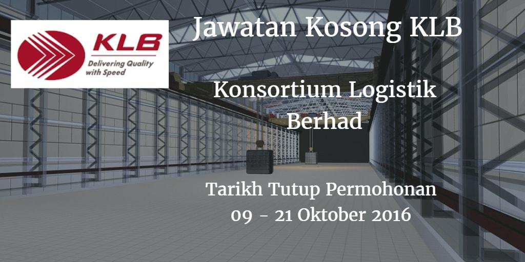 Jawatan Kosong KLB 09 - 21 Oktober 2016