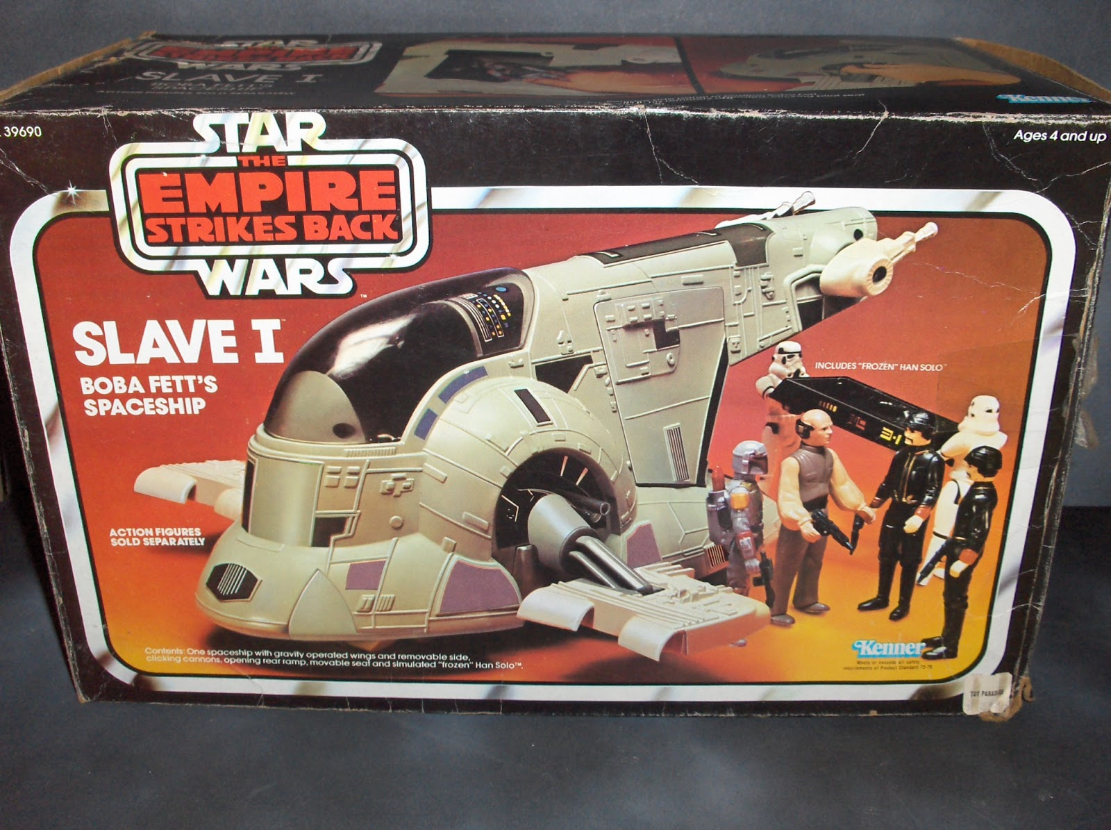 Vintage Kenner Star Wars Toys Slave I Boba Fetts Spaceship