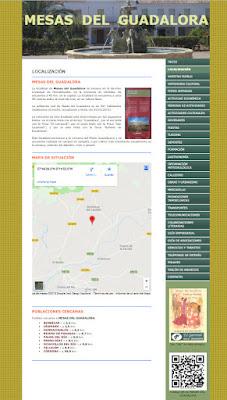 Web de Mesas del Guadalora con la imagen del cartel de la Feria de San Isidro 2018