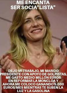 Pedro Sánchez , mujer, Begoña, enchufada