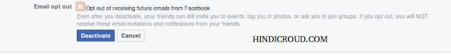 deactivate your fb accountt