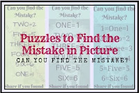 Puzzles to Find the Mistake in Picture