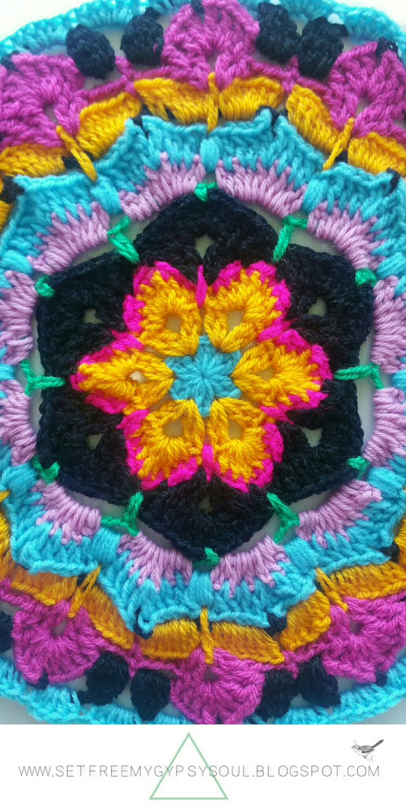 african flower crochet mandala pattern how to tutorial hippie boho