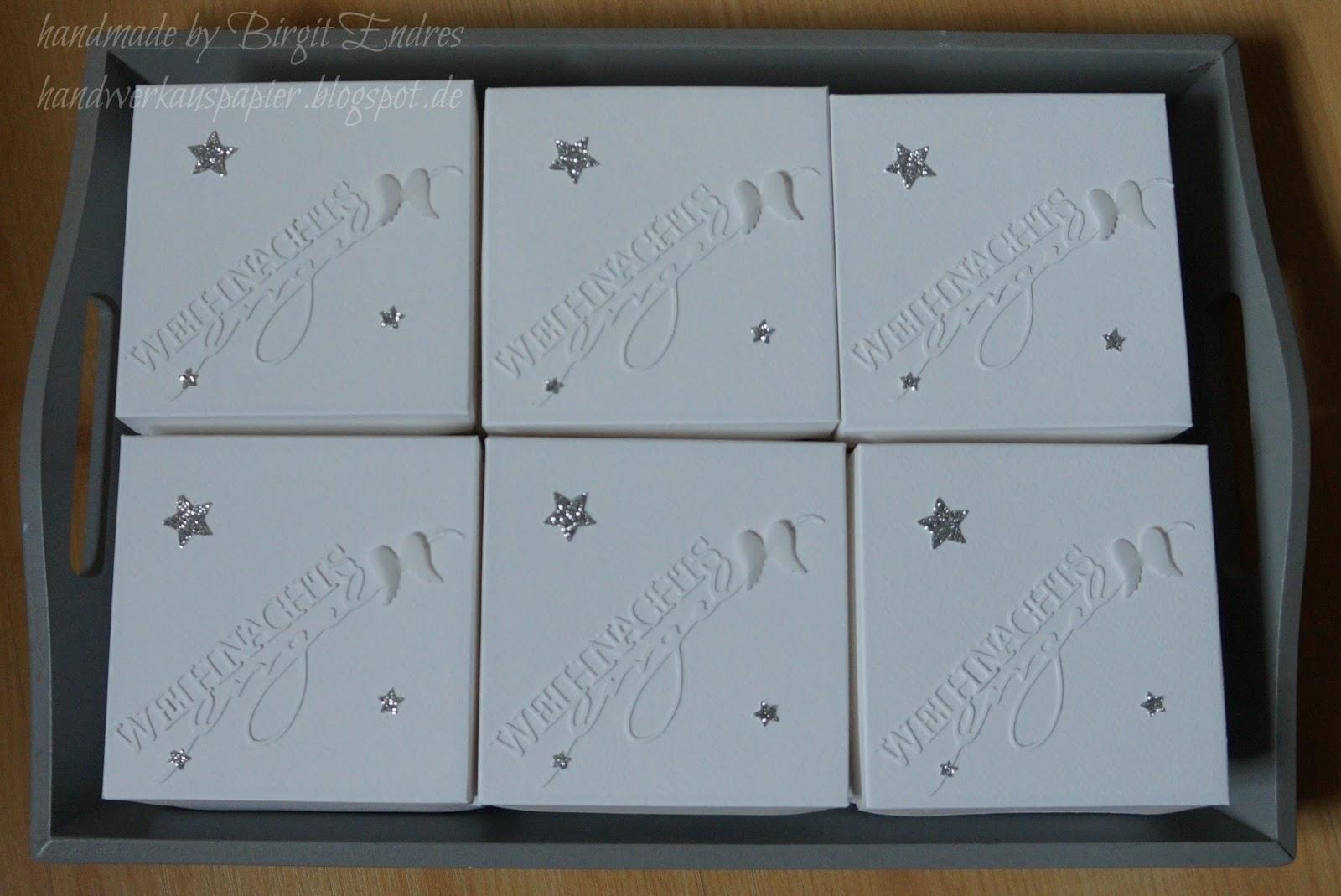 Himmlische Weihnachtsgrüße.Handwerk Aus Papier Himmlische Weihnachtsgrüße Aus Der Box