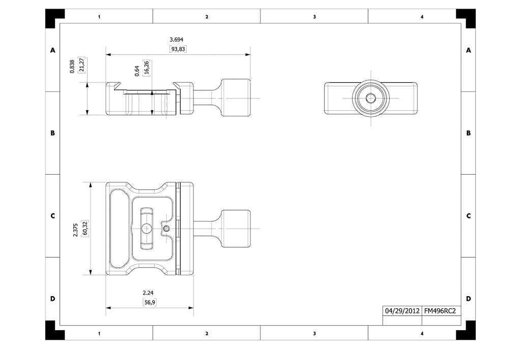 Hejnar FM496RC2 QR clamp drawing