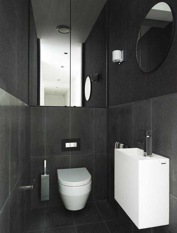 Small Toilet Room Narrow