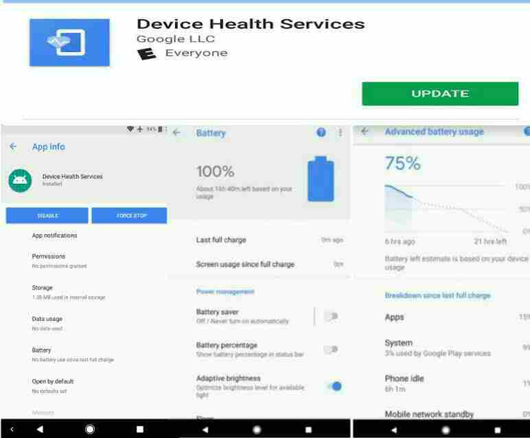 Device Health Services