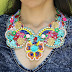 Customize Your Own Colorful Lace Bib Necklace Tutorial
