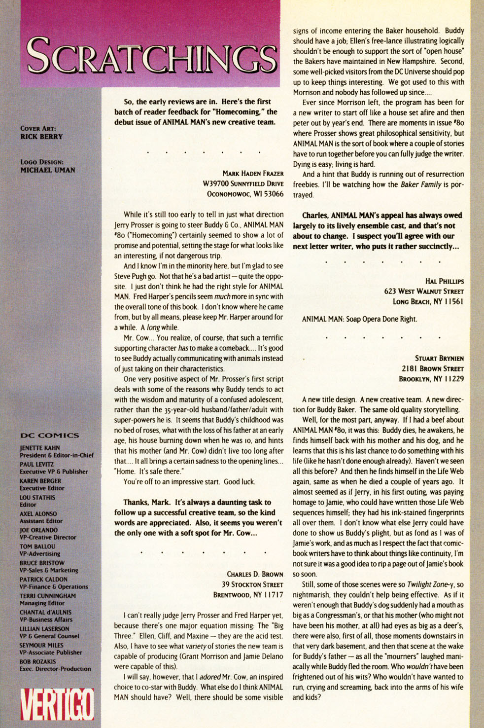 Read online Animal Man (1988) comic -  Issue #83 - 26