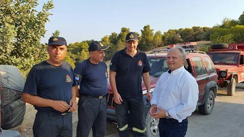 Επίσκεψη Ανδριανού σε Ερμιονίδα και Πυροσβεστικό Κλιμάκιο Κρανιδίου