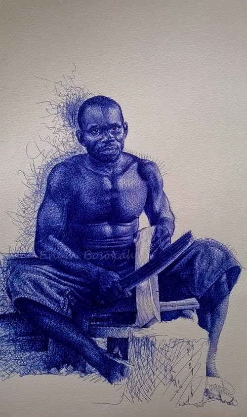 10-Life-Portrayed-by-a-Ballpoint-Pen-Enam Bosokah-www-designstack-co
