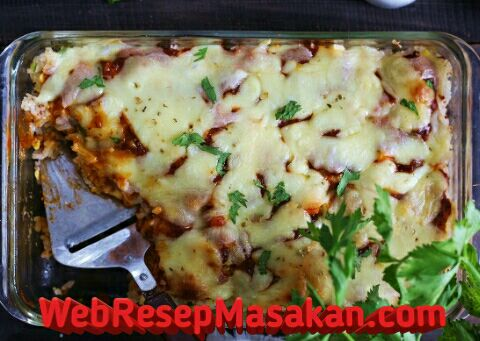 Nasi Panggang Mozarella, Resep nasi panggang mozarella,