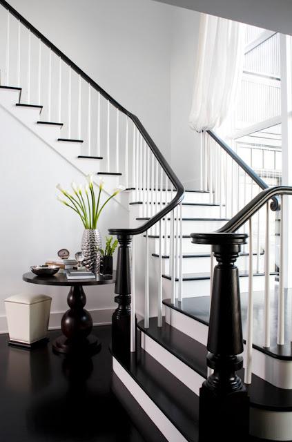 cầu thang đá hoa cương đen đẹp 4
