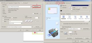 setting printer untuk cetak kertas label nama